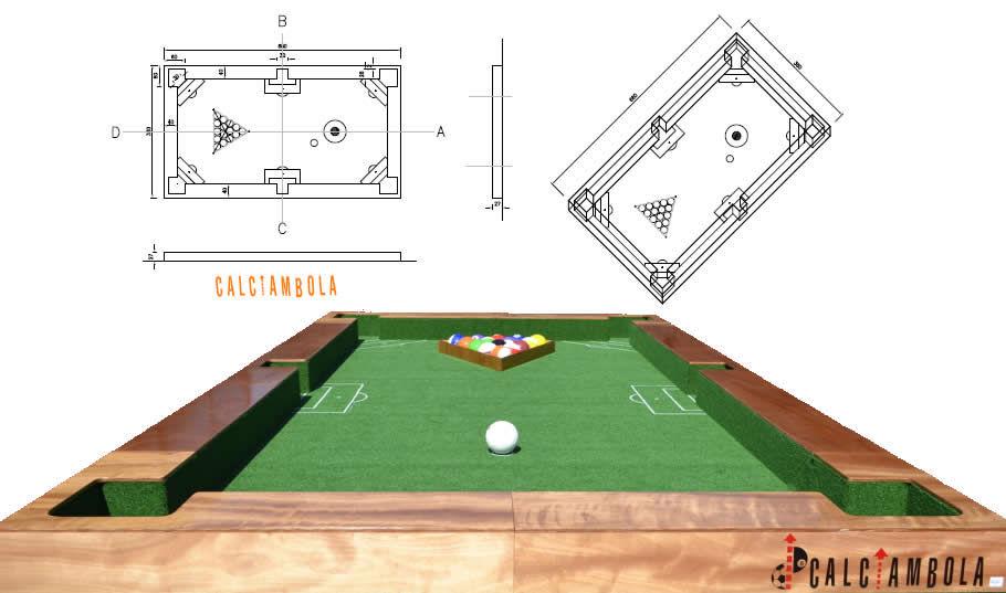 Fu ball billard soccerpool funsport ballprint exklusiv for Plan table de billard